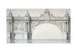Design by Robert Mylne for a Section of Blackfriars Bridge, London, 1759 Giclee Print by Robert Mylne II