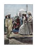 A Street Conjurer in Algiers, 1895 Giclee Print by Richard Caton Woodville II