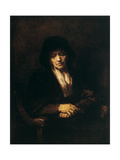 Portrait of an Old Woman, 1654 Giclee Print by  Rembrandt van Rijn