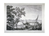View Near Putney, with the River Thames in the Background, Wandsworth, London, C1850 Giclee Print by Robert Mackreth
