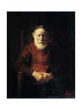 Portrait of an Old Man in Red, 1652-1654 Giclee Print by  Rembrandt van Rijn