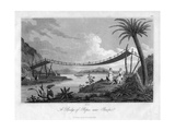 A Bridge of Ropes, Near Penipe, Ecuador, 1829 Giclee Print by  Storer