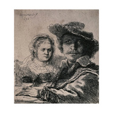 Self-Portrait with Saskia, 1636 Giclee Print by  Rembrandt van Rijn
