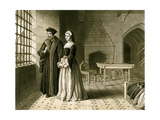 Sir Thomas More (1478-153) and His Daughter, Margaret, 19th Century Giclee Print by R Anderson