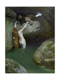In the Grotto, 1902-1903 Giclee Print by  Roessler