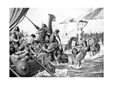 Saxon Raiders Giclee Print by Richard Caton Woodville II