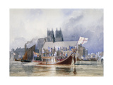 Arrival of the Lord Mayor at Westminster, C1841 Giclee Print by Richard Henry Nibbs