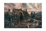 All That Was Left of Them, 2nd Boer War, 1899 Giclee Print by Richard Caton Woodville II