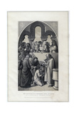 The Baptism of Ethelbert King of Kent, by St Augustine, Canterbury in 597 Giclee Print by R Anderson