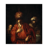 Haman Recognizes His Fate (David and Uria), 1665 Giclee Print by  Rembrandt van Rijn