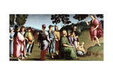 Saint John the Baptist Preaching, 1505 Reproduction procédé giclée par  Raphael