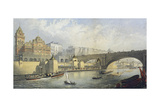 Thames Embankment - Steam Boat Landing Pier at Waterloo, London, 1864 Giclee Print by RM Bryson