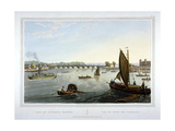 Water Craft on the River Thames with Vauxhall Bridge in the Distance, London, 1821 Giclee Print by Robert Havell the Elder