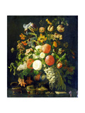 Flowers, 18th Century Giclee Print by Rachel Ruysch