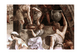 The Fire in the Borgo (Detail), 1514 Giclee Print by  Raphael