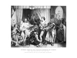 King Richard I (1157-119), Forgiving Bertrannd De Gurdun, Late 19th Century Giclee Print by Thomas Brown
