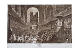 Service of Thanksgiving in St Paul's Cathedral, City of London, 1789 Giclee Print by Robert Pollard