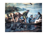The Miraculous Draught of Fishes, 1515 Reproduction procédé giclée par  Raphael