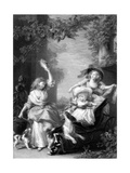 The Royal Princesses, Children of King George III, 19th Century Giclee Print by Robert Graves