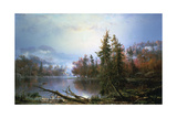 Autumn Landscape, Mid-Late 19th Century Giclee Print by Regis Francois Gignoux