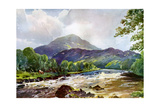 On the Teith Near Callander, Perthshire, 1924-1926 Giclee Print by RJ Begg