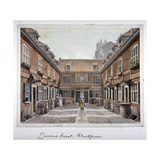 View of Queen's Court, Upper Ground Street, Southwark, London, 1830 Giclee Print by Robert Blemmell Schnebbelie