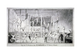 Interior View of a Gymnasium, 26 St James's Street, Westminster, London, C1830 Giclee Print by Robert Seymour