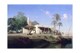On the Banks of the Nile, 19th Century Giclee Print by Prosper Georges Antoine Marilhat