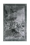 Solemn Joust on London Bridge, Late 15th Century Giclee Print by Richard Beavis