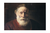 Portrait of an Old Man in Red, 17th Century Giclee Print by  Rembrandt van Rijn
