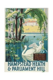 Hampstead Heath and Parliament Hill, London County Council (LC) Tramways Poster, 1933 Giclée-Druck von RF Fordred