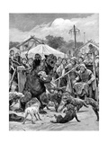 Bear-Baiting in Saxon Times Giclee Print by Richard Caton Woodville II
