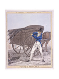 Passing a Mud Cart, 1821 Giclee Print by Richard Dighton