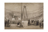Prince Albert Laying the First Stone of the New Royal Exchange, London, 17th January 1842 Giclee Print by Thomas Allom