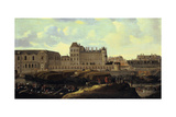 Louvre and Petit Bourbon Seen from the Seine, Paris, 17th Century Giclee Print by Reinier Zeeman