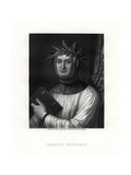 Petrarch, Italian Scholar, Poet, and Early Humanist, 19th Century Giclee Print by Robert Hart