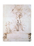 Outline Composition for a Decoration of a Festival, C1500-1520 Reproduction procédé giclée par  Raphael