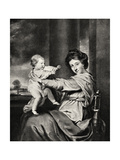 Caroline, Duchess of Marlborough and Daughter, 20th Century Giclee Print by Richard Houston