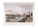 London Bridge, London, 1820 Giclee Print by Robert Havell the Younger