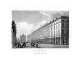 Rue De Rivoli, Paris, France, 1829 Giclee Print by  Romney