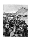 Albanians from Scutari Cross the Boyana to Occupy Dulcigno, 1880 Giclee Print by Richard Caton Woodville II