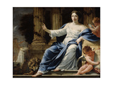 Polyhymnia, Muse of Eloquence, 17th Century Giclee Print by Simon Vouet