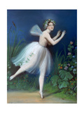 Portrait of Carlotta Grisi in Giselle, 1841 Giclee Print by Theophile Gautier