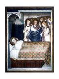 St Martin's Dream, 14th Century Giclée-Druck von Simone Martini