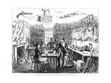The Criminal Museum at the Convict Office, Metropolitan Police Department, London, 1883 Giclee Print by  Swain