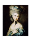 A Lady in Blue (Duchess of Beaufor), C1780 Giclee Print by Thomas Gainsborough