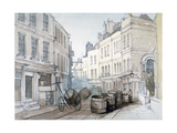 Bread Street Hill and St Nicholas Olave Churchyard, City of London, C1850 Giclee Print by Thomas Colman Dibdin