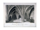 St Michael's Crypt, Aldgate, London, 1805 Giclee Print by Samuel Owen