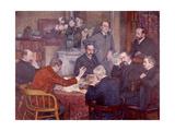 The Lecture, 1903 Gicléetryck av Théo van Rysselberghe