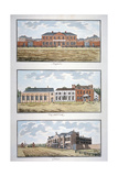 Three Buildings in St George's Fields, Southwark, London, C1790 Giclee Print by Thomas Trotter